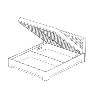 кровать 160х200 с подъемным механизмом и мягким изголовьем (модель 1) Кураж Парма