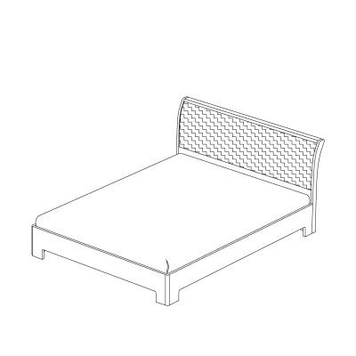 кровать 180х200 с мягким изголовьем (модель 3) Кураж Парма