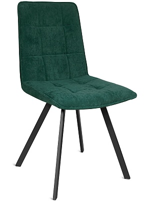 Стул FELIX-GREEN черный металл/ бархат LUX зеленый