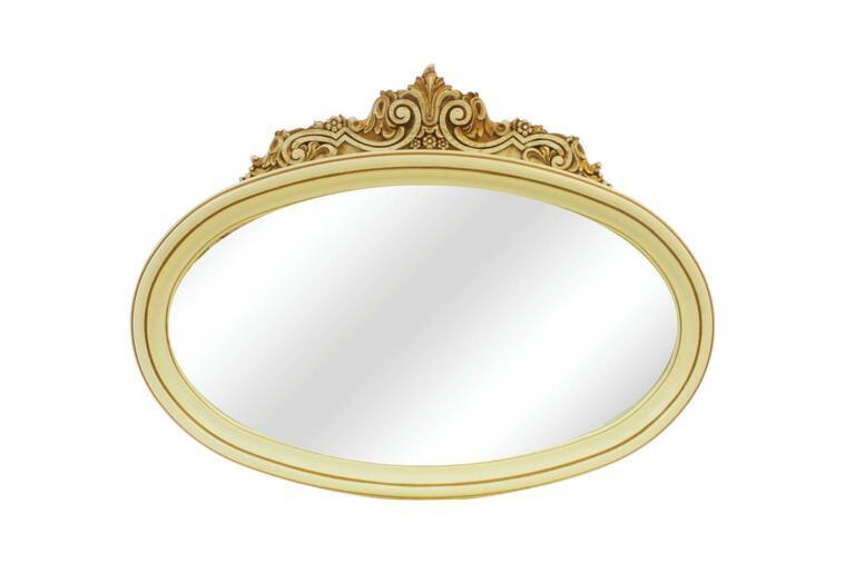 Зеркало навесное Барокко слоновая кость/золото