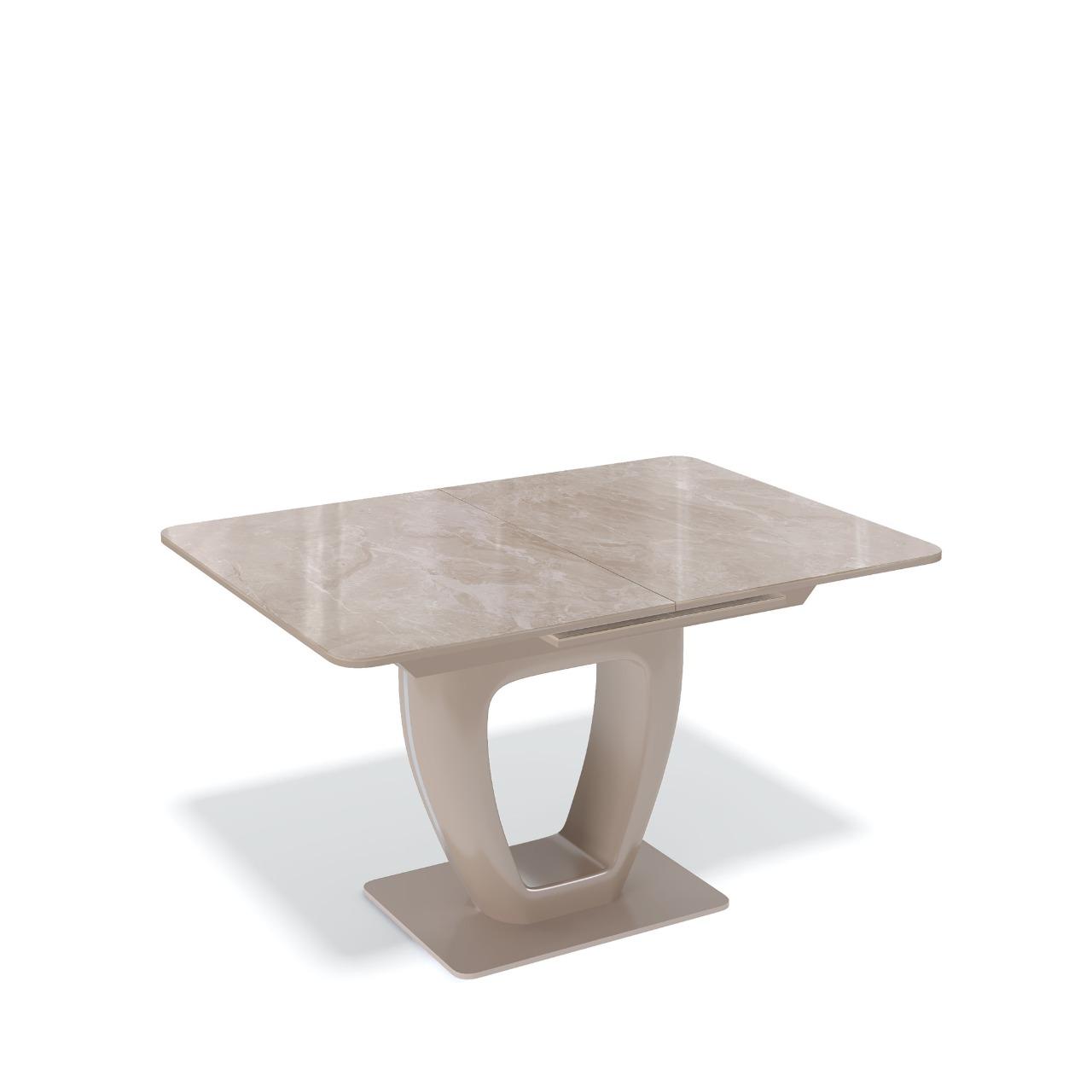 Стол Kenner BS1200 капучино/стекло камень капучино