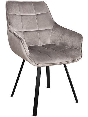Кресло поворотное EMILE-LT, черный металл/ бархат латте